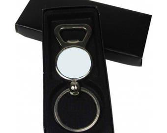 Lot 20 25mm bottle opener Keychain + its gift box
