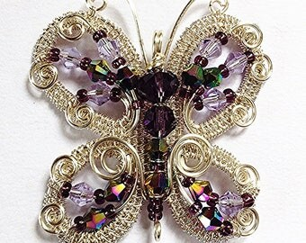 The Butterfly Pendant - wire wrap tutorial