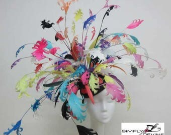 Stunning Feather Hatinator/Fascinator for the Mother of the Bride or the Races
