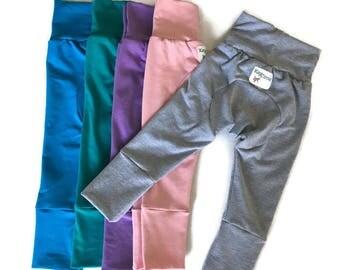 Baby girl pants - cloth diaper pants - monster bunz - grow with me - maxaloones - baby girl