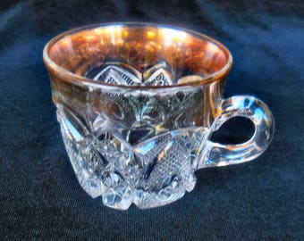 U S Glass Pressed Glass Punch Cup in the New Hampshire pattern circa 1900