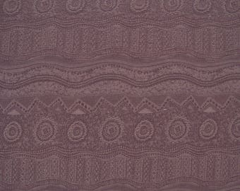 Stretch Ethnic Textured Bottom Weight Cotton Fabric By The Yard