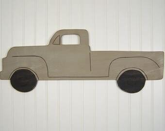 Wooden Truck Nursery Decor Vintage Truck Decor Truck Wall Art Truck Gift Baby Shower Gift Pick Up Truck Birthday Boys Bedroom Decor