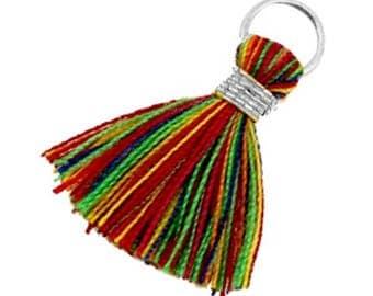 Tassels, tassel-3 pcs.-1.8 cm-Color selectable (color: multicolor)