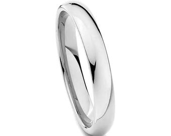 Stainless Steel Wedding Ring, Thin Silver Wedding Band, Menu0027s Ring, Womenu0027s  Ring,