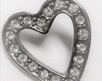 Avon Sparkling Heart Pin Or Brooch - Clear - Circa 1992