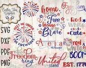 4th of July SVG Bundle - America The Beautiful Svg - Home of the Free Svg - United We Stand SVG - Firework- Let Freedom Ring SVG