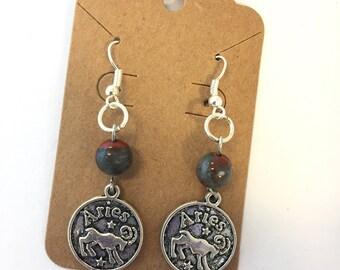 Aries Courageous Bloodstone Earrings