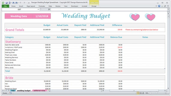 best excel budget template 2018