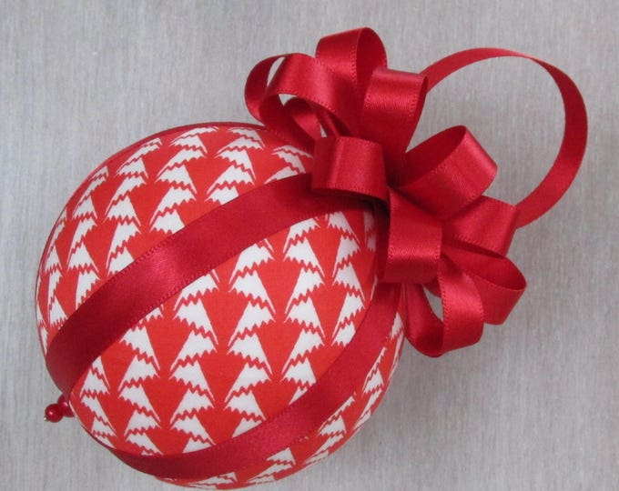 Liberty of London Luxury Red Fabric Christmas Tree Bauble