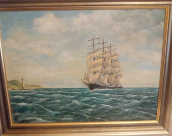 Great sailor of a Hamburg naval painter on panel 60 x 70cm, tall ships of Hamburg marine Painter on plate 60 x 70 cm
