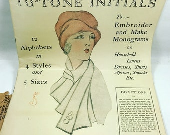 Vintage Sears and Roebuck embroidery Alphabet Transfer Patterns
