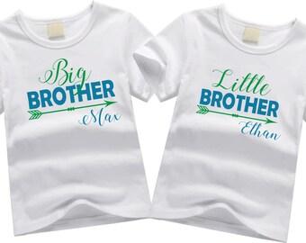Personalized big brother shirts. Sibling shirt set. Big brother, little brother. Custom sibling shirt SET OF 2. Big and little brother