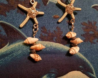 Starfish Seashell Earrings