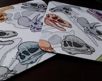 Dino Print - Soft Style Coasters (1 pair)