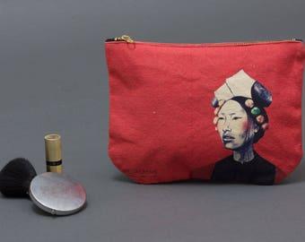 Coin Purse, Makeup bag, canvas pouch, Card Pouch, Zipped Wallet, Small Purse, Accessory Purse, pencil pouch, Clutch Purse, cosmetic bag