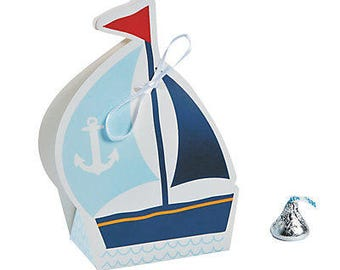 6/Nautical Baby Shower Favor Boxes