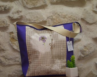 Large bag of lavender oilcloth (closure)
