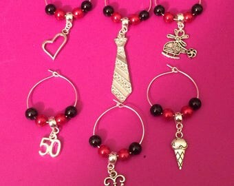Fifty Shades Wine charms set of 6