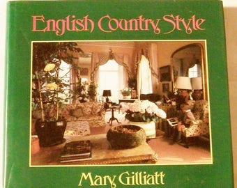 English Country Style - Vintage Design Decorating Book - Loads of Photo - Free Shipping
