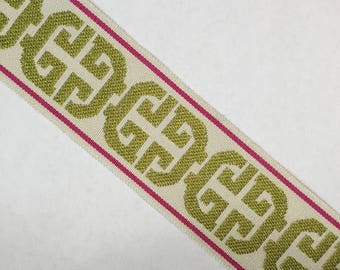 Pink and Lime Green - Tape Trim - Home Decor Trim - Accent Trim