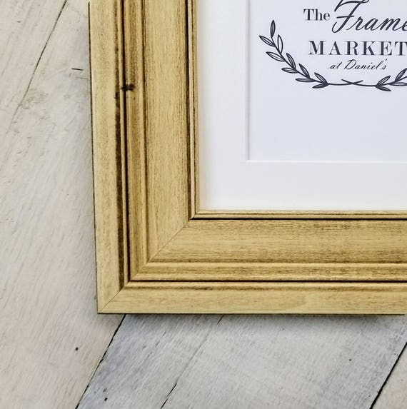 Oliver Oyster Wood Picture Frame With White Mat 8x10 9x12