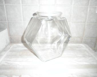 Vintage 8 1/2 inch glass cookie jar