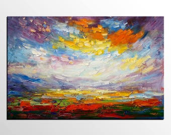 Original Painting, Abstract Landscape Painting, Abstract Art, Canvas Painting, Large Abstract Painting, Canvas Painting, Canvas Wall Art