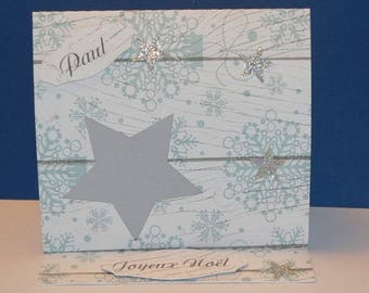 Mark up icy snowflake candle
