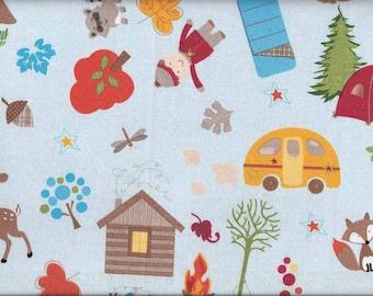 Tissu  pour enfants Riley Blake  - Camping sauvage en forêt