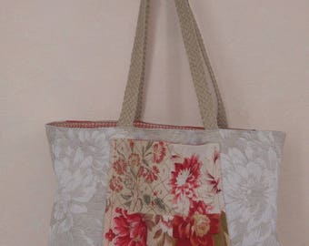 Bag in canvas and fabric samples