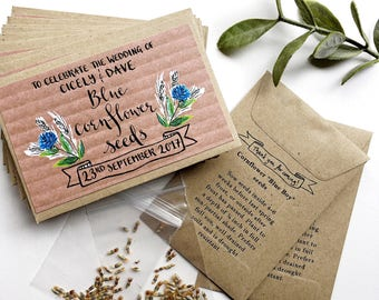 Wedding Favour Wildflower Seeds // Wedding favour seed packets // Custom seed packets