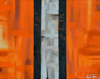 Cleveland Browns Abstract - ART PRINT