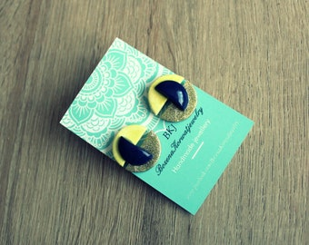 Small stud earrings (polymer clay)