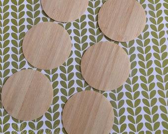 Bamboo 5cm Round Stickers (Pk-10)