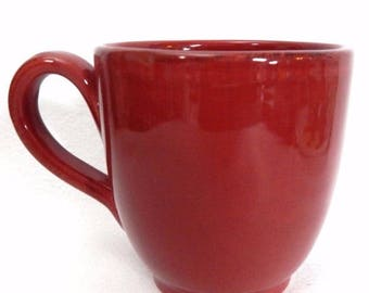 "ON SALE Pier 1 TOSCANA Burgundy Lot of 4 Mugs all Burgundy Dinnerware 4 1/2"" tall holds 20 Ounces"