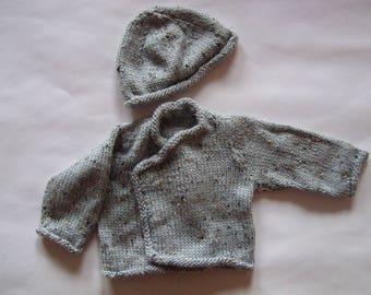 vest and hat baby newborn layette set