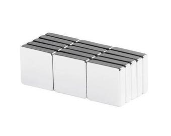 1/2 x 1/2 x 1/8 inch Neodymium Rare Earth Block Magnets N48 (15 Pack)
