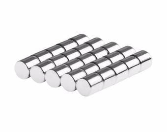 1/4 x 1/4 Inch Neodymium Rare Earth Cylinder Magnets N48 (25 Pack)