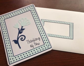Framed Dandelion Flower Card - Thinking of You Customizable