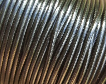 Purchase by the Roll - Korean 2mm Wax Polyester Cord, approx. 100yards/roll - Black - Australian Seller