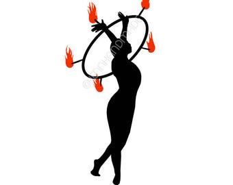 Vinyl Decal- Stand Tall Fire Hoop