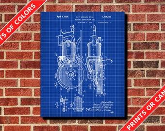 Circular Saw Patent Print Design Power Tool Poster Blueprint Art Trendy Home Decor Man Cave Poster
