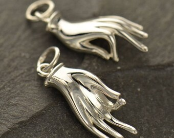 Reserved Listing - 3 Mudra Sterling Silver Charms