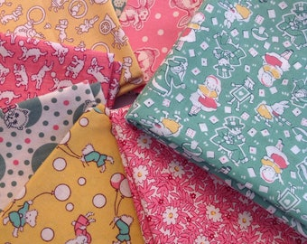 1930s Era, Assorted Pink, Green and Yellow  Aunt Grace Prints from Judie Rothermel, Fat Quarter Bundle