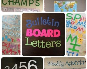 Silhouette Cut Letters- Bulletin Board Letters