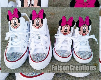 Adult Low Top Custom Minnie/Mickey Mouse Converse