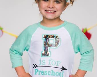 Back to School Shirt - Back to School Shirt for Girls - Preschool Shirt - First Day of School Shirt - Back to School Raglan - Kindgergarten