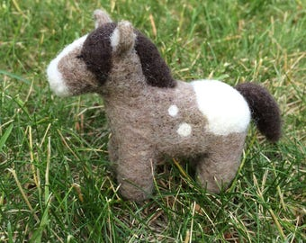 Needle Felted Sleepy Horse