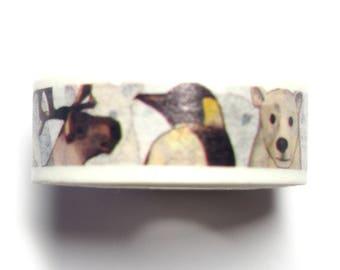 Masking tape animal ice - Japanese washi paper tape